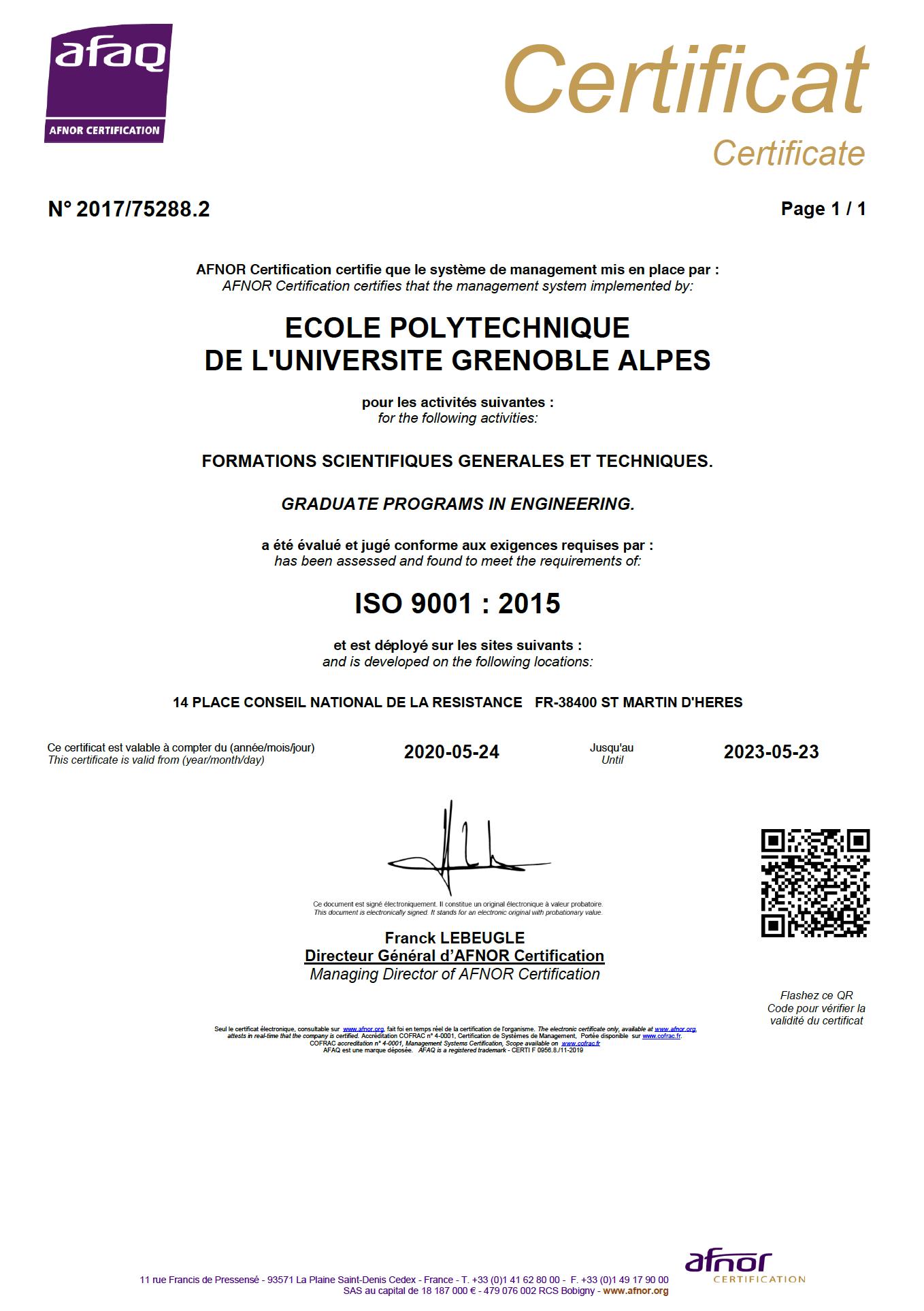 certification-afnor
